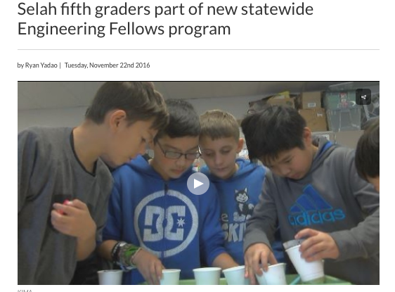 Mrs. Quigley's Science Class made the news!
