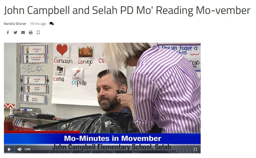 Mo-vember reading minutes on KNDO
