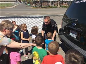 Selah Police Department visits the ELC