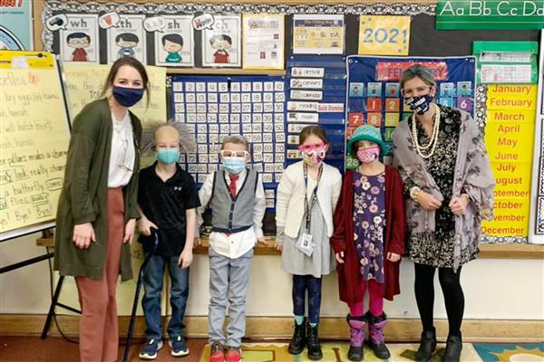John Campbell students celebrate 100 days of school.