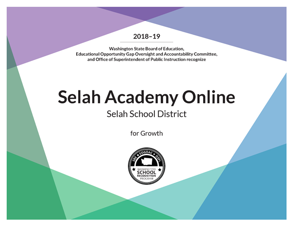 Selah Academy Online recognized for growth.