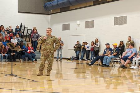 Selah Middle School students support Veterans during the annual Veterans' Day assembly.