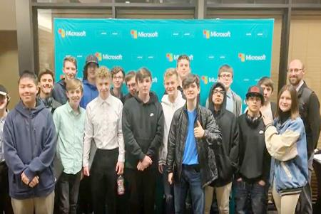 High School students enjoye a close look at the computer science industry during their field trip to Microsoft and Amazon.