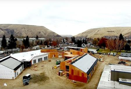 Construction continues at the Robert Lince Kindergarten facility.