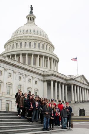 SHS students in Washington DC.