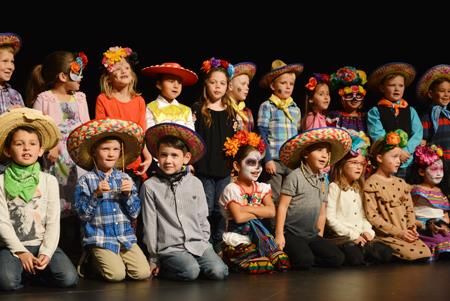 Selah students celebrate during the District's Day of the Dead event.