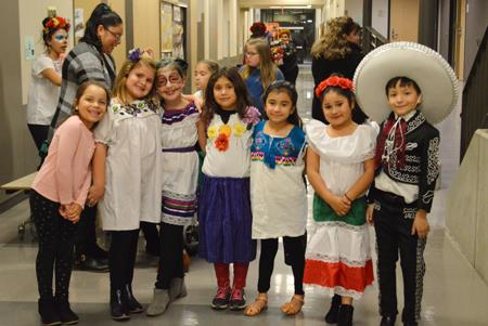 Selah students celebrate Day of the Dead.