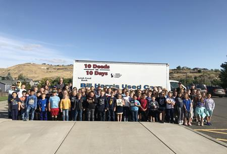 Selah Intermediate students showed their community spirit as they hosted a food drive benefiting local residents.