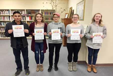 Five students participated in the Poetry Out Loud regional qualifying event at Selah High School.