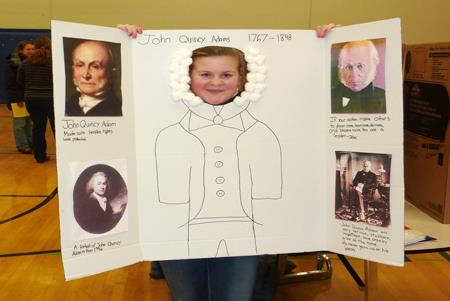 Homelin students host a presidential showcase.