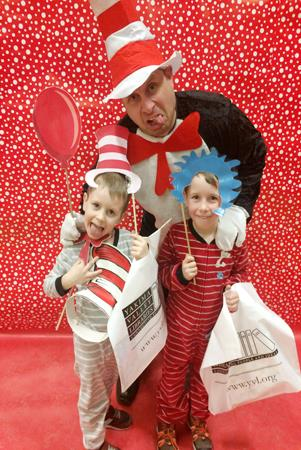 John Campbell celebrates Dr. Seuss and literacy.
