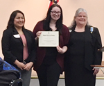 Destiny Knutson has been honored with a DAR award which recognizes citizenship.