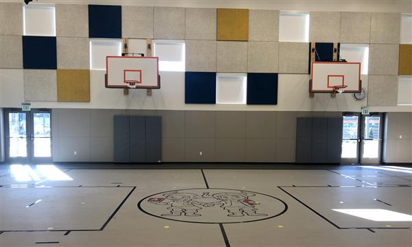 A gymnasium view at the Robert Lince Kindergarten campus.
