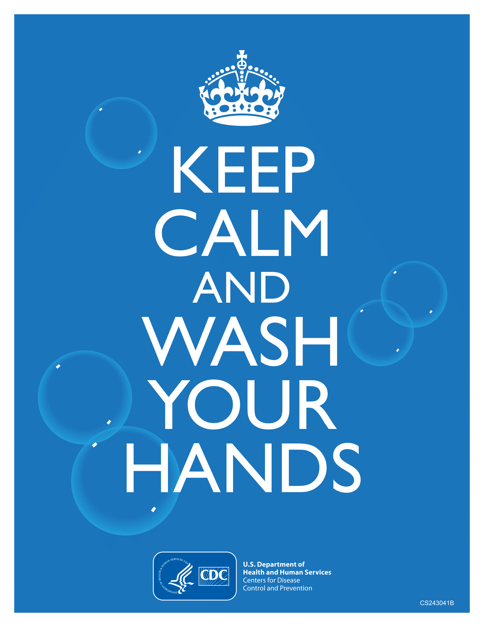 Keep calm wash your hands