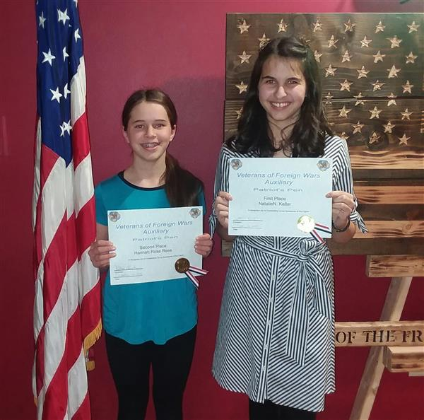 Two SMS Students Honored at VFW